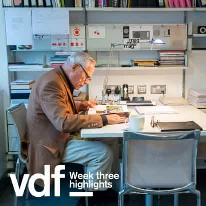 VDF destacados de esta semana incluyen Alison Brooks, Chris Precht, UNStudio, Fritz Hansen y proyección de una película libre de Dieter Rams