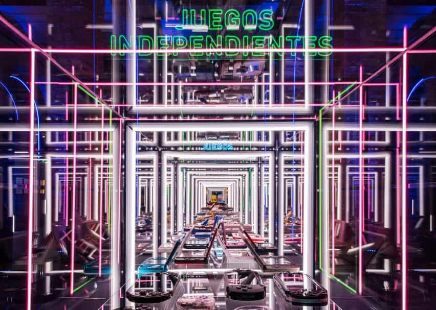 marcos de LED en el diseño de juegos de vídeo de la exposición inteligente y verde Diseño