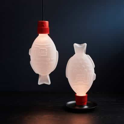 Heliograf hace lámparas lúdicas en forma de botellas de salsa de soja sushi