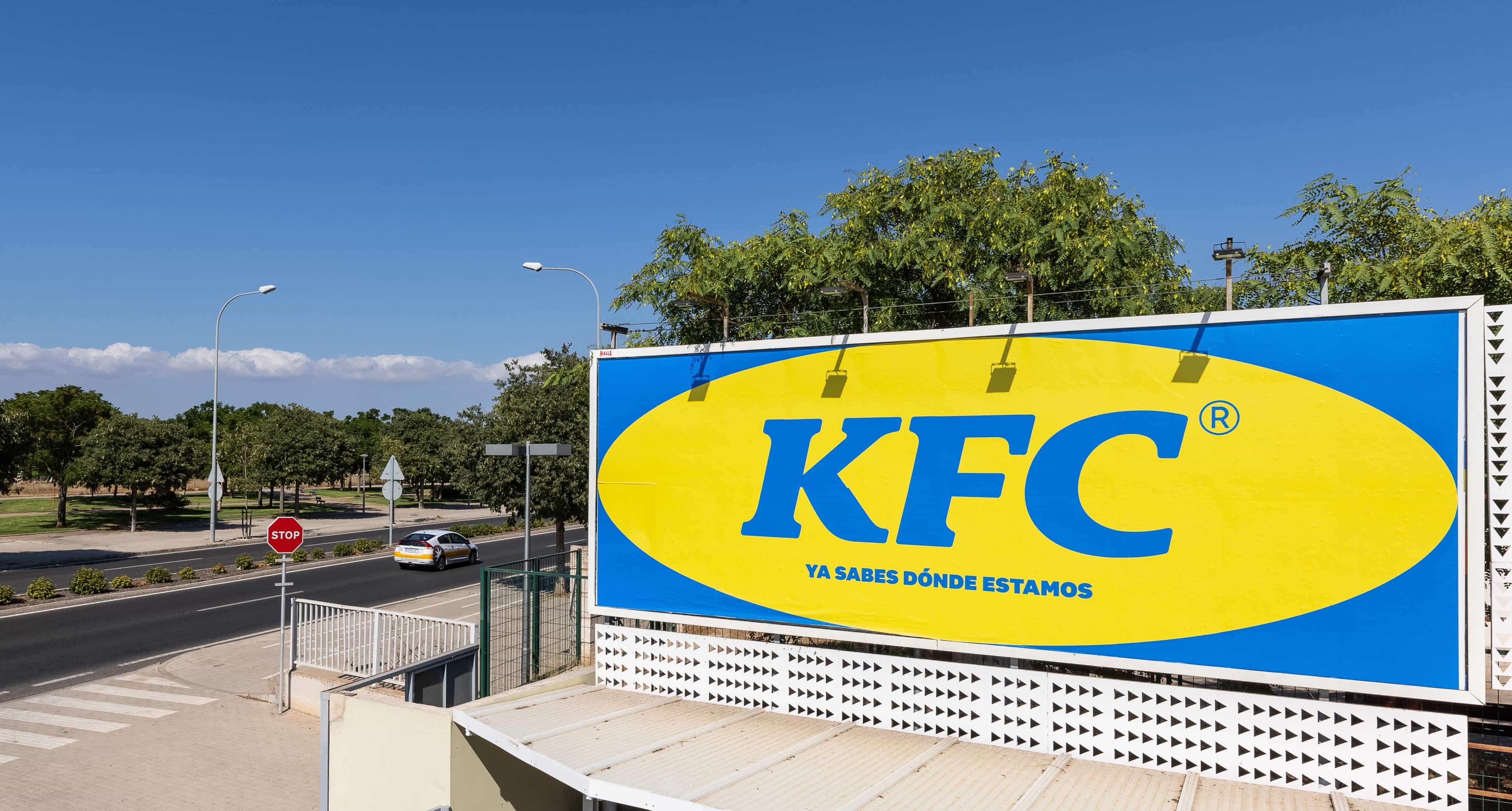 La última valla publicitaria de KFC es absolutamente descarada. Lo amamos