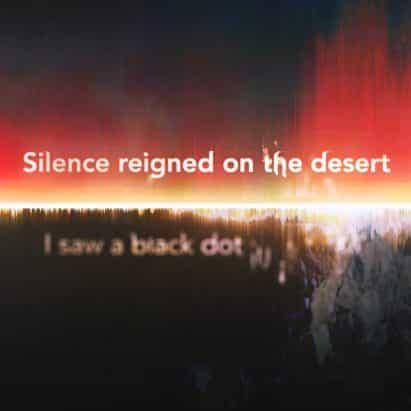 obra de arte digital por voces Es Devlin cuentas de los testigos de la bomba atómica