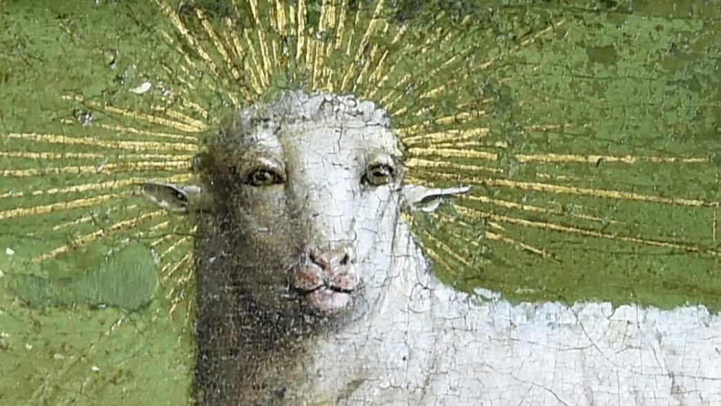 cordero retablo de Gante se restaura para revelar aterrador rostro humano