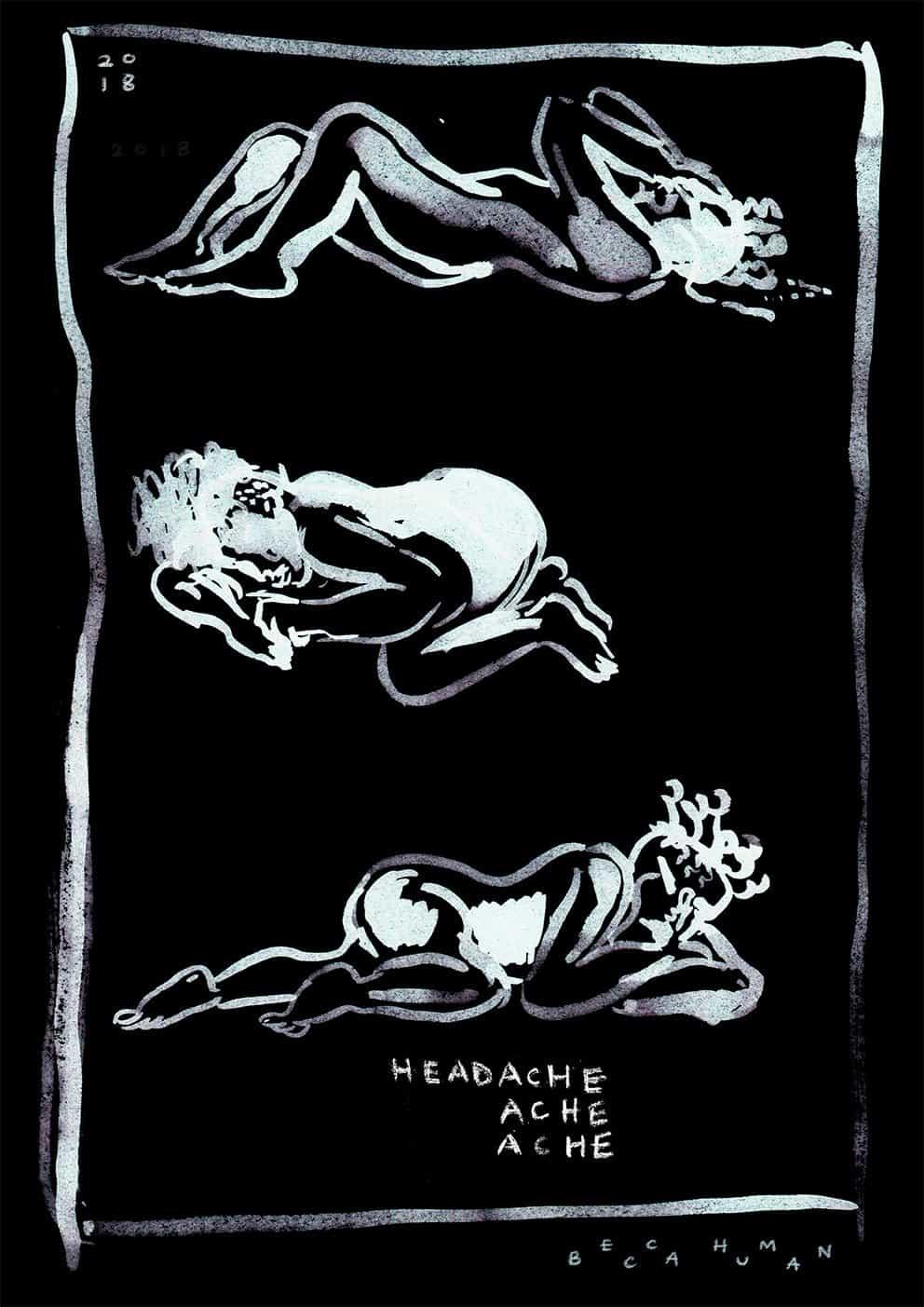 La artista Becca Human utiliza la ilustración y la pintura para inspirar su realización cinematográfica