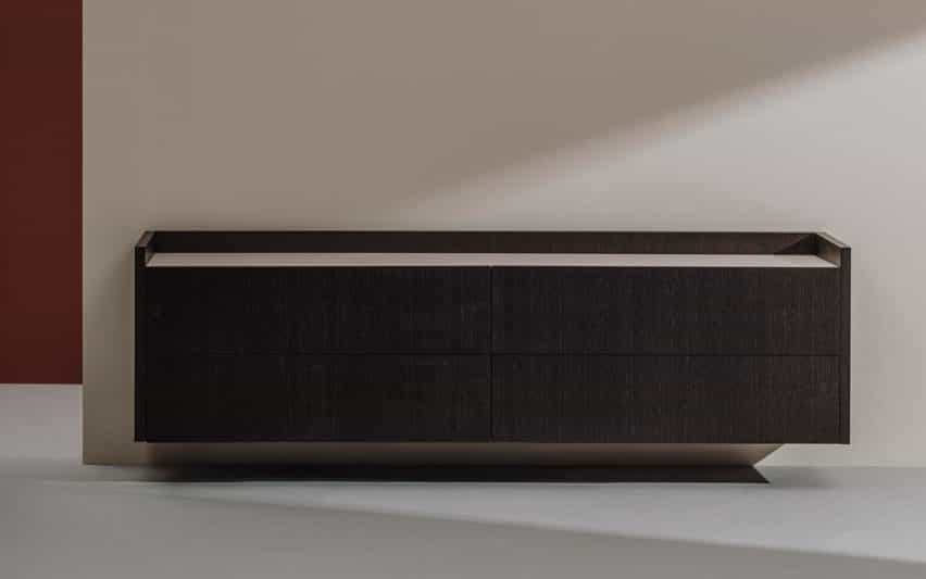 Tempo Sideboard Wall Version en negro por Estudio Andreu para Andreu World