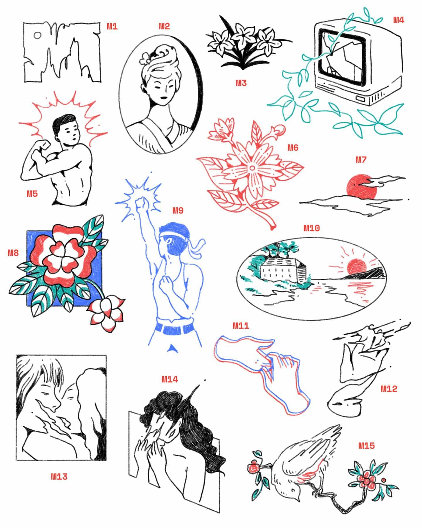 Gabrielle Widjaja, a partir de los productos básicos de Chinatown, añade un toque estilístico a los carteles de reflexología, Hongbaos y más