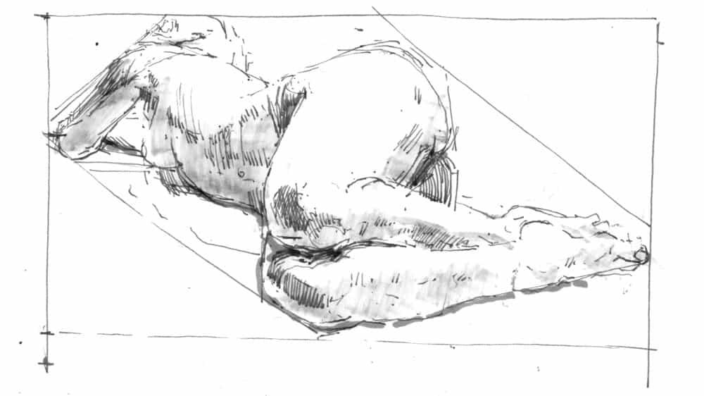 Dibuja el cuerpo humano de la vista.