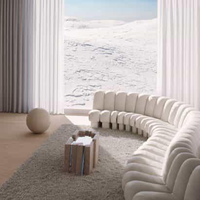 Simon Johns diseña muebles para parecerse a las formaciones rocosas de los Apalaches