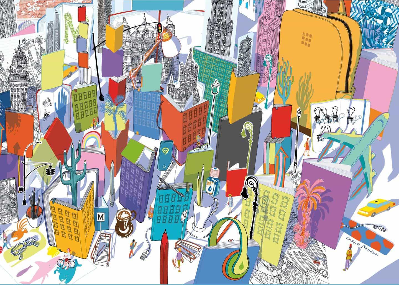 Carlo Stanga colabora con Moleskine, alentando a todos a descubrir un mundo de color post-bloqueo