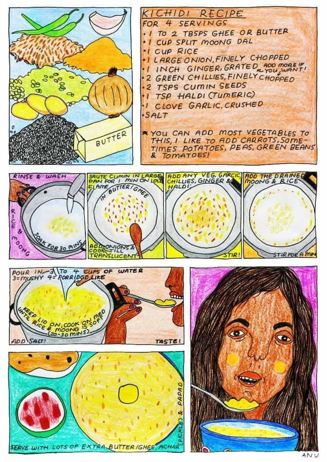 Anu Ambasna asume la fatiga corporativa y las queridas recetas familiares en su próspera práctica de ilustración.