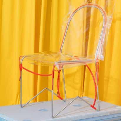 """colección """"lúdico"""" ojo ancho de más edad presenta silla inflable y los pechos de mármol"""