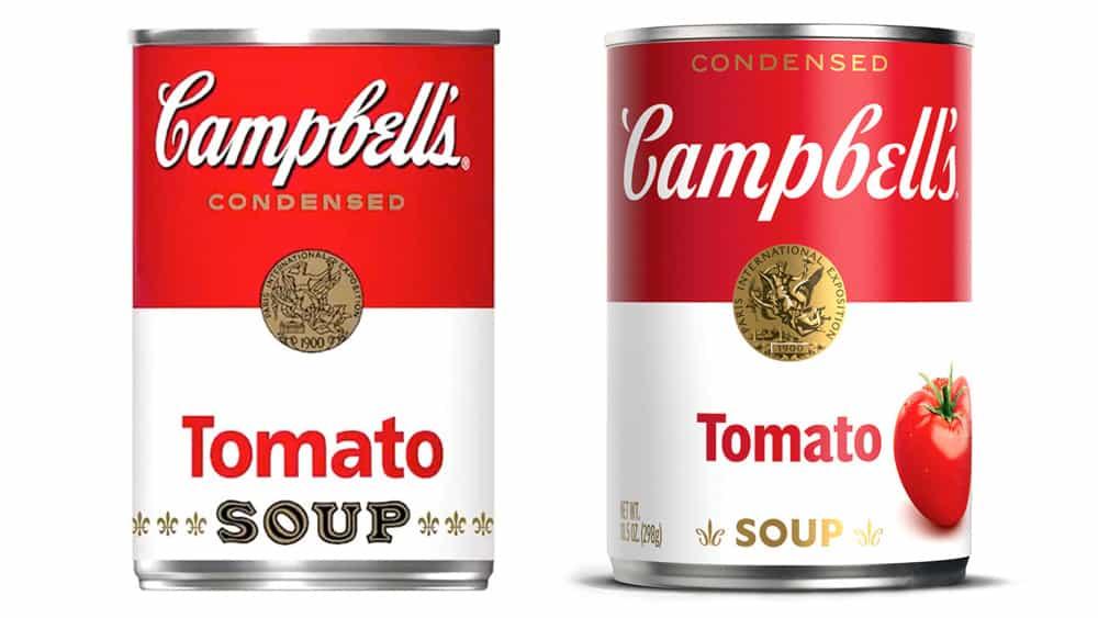 La sopa Campbell's actualiza la lata icónica después de 50 años