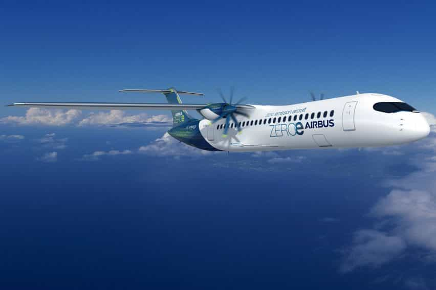 nuevo concepto de Airbus para un avión de emisiones cero
