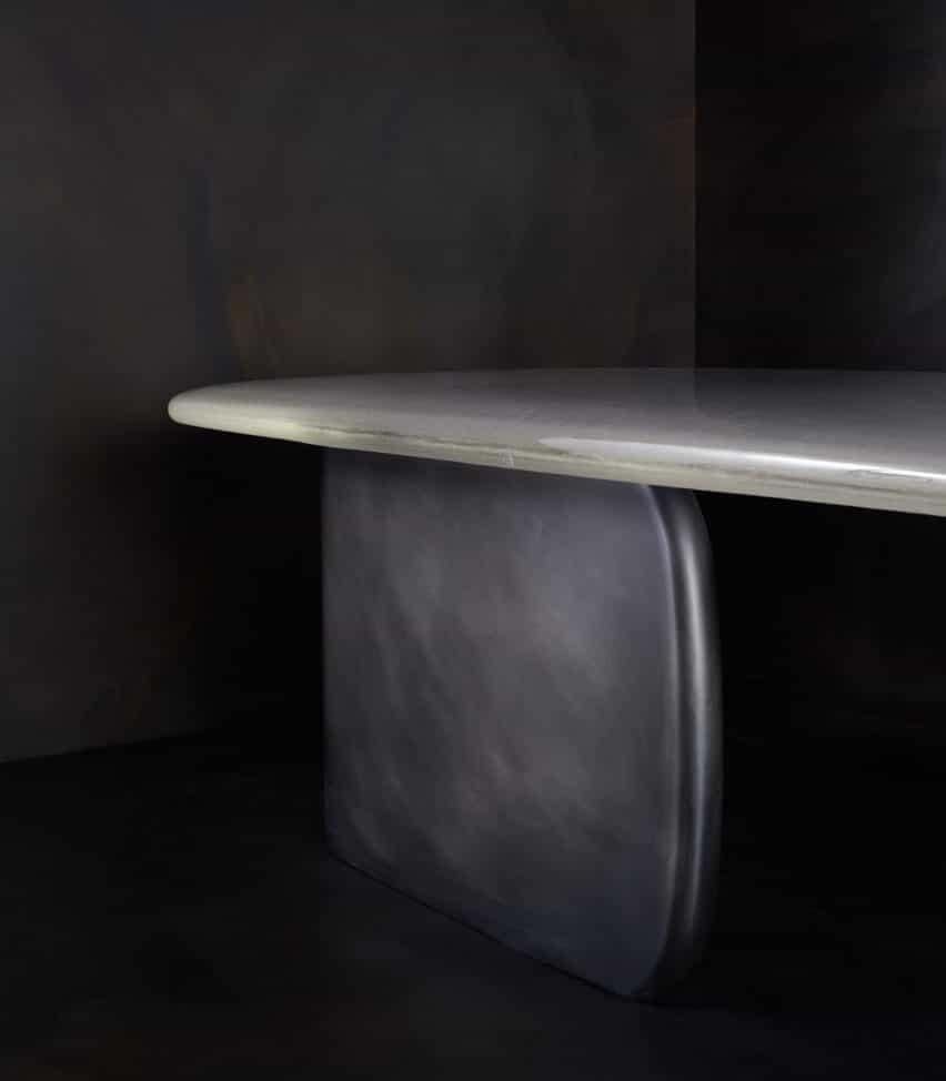 Tidal rectangular Mesa de cóctel por John Pompa