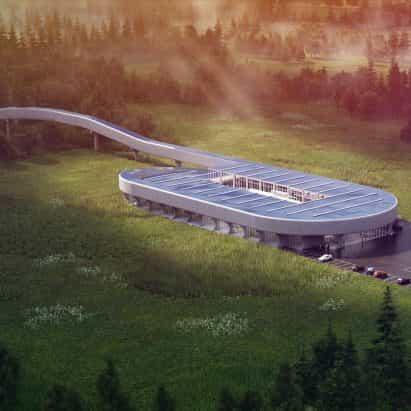 Diseños grandes Centro de Certificación Virgen Hyperloop para West Virginia