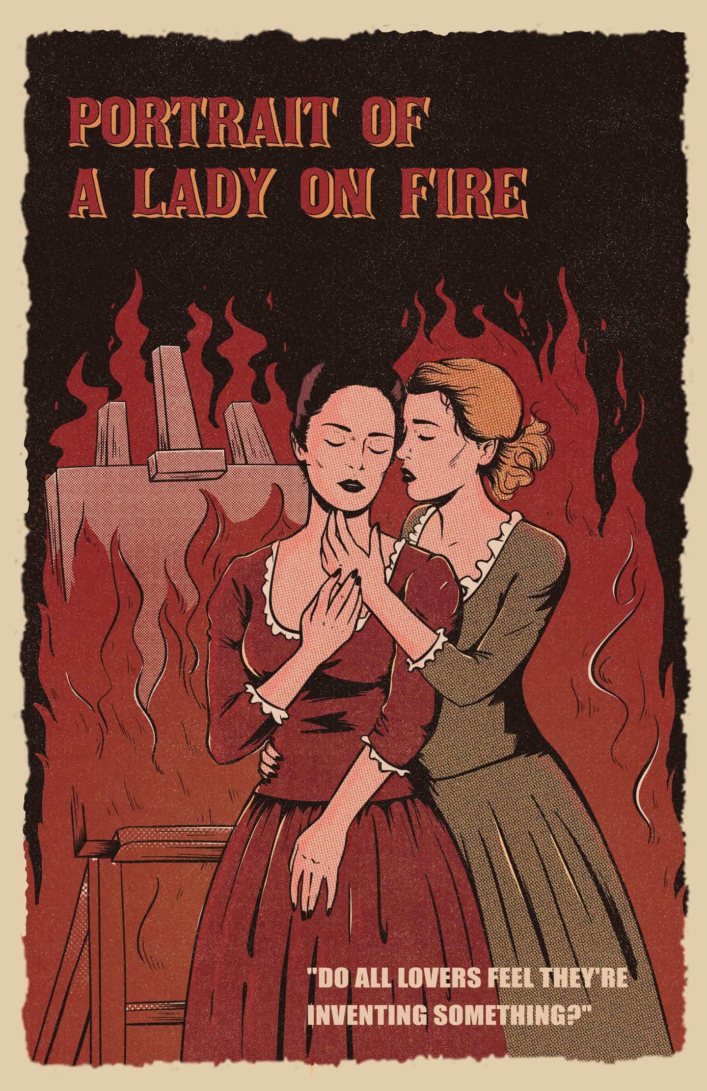 Jenifer Prince: Lesbian Pulp Movie Posters - Retrato de una dama en llamas (Copyright © Jenifer Prince, 2020)