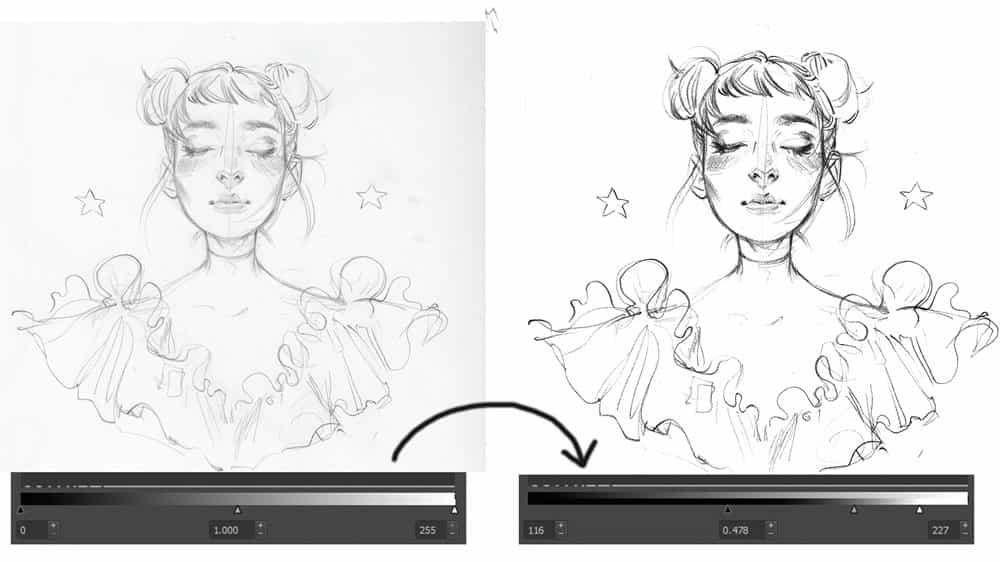 Krita tutorial: Cómo limpiar sus bocetos