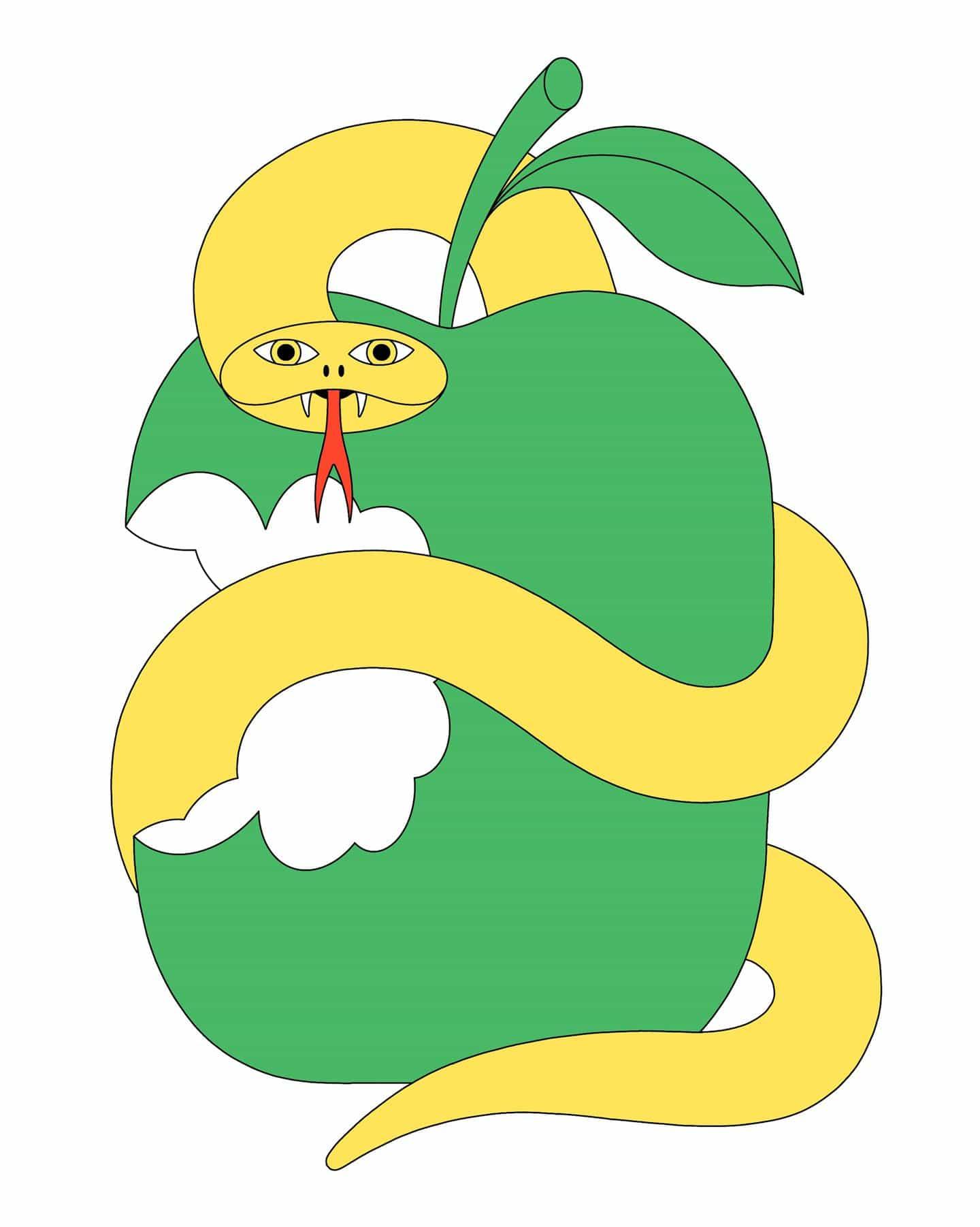Serpiente y Apple