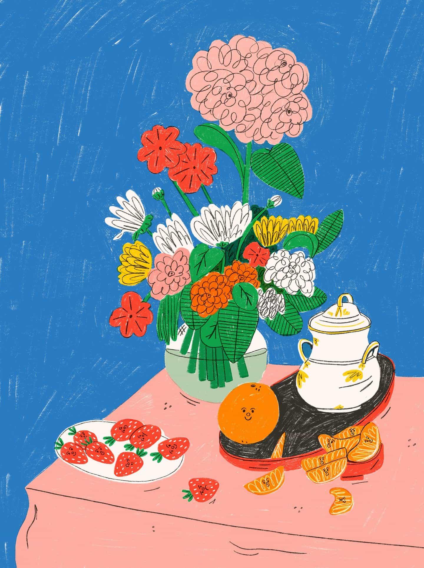 Naturaleza muerta, sonrisas y mucha fruta; Tess Smith-Roberts habla de su obsesión en curso