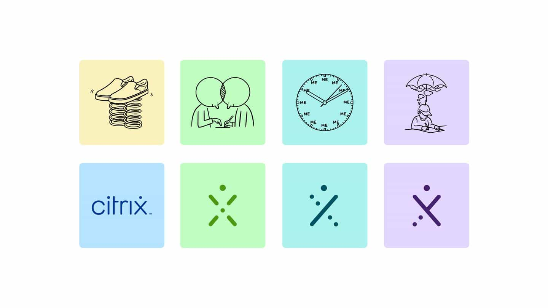 La identidad de Citrix atletismo utiliza ilustración para llevar el humanismo a una marca corporativa