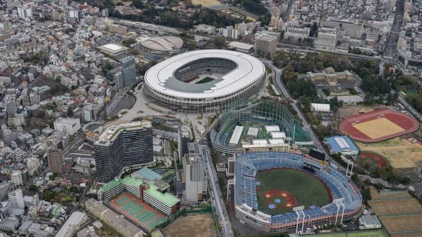 Estadio Olímpico de Tokio desde arriba