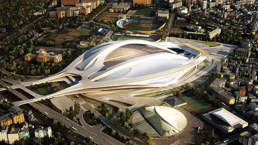Diseño del estadio olímpico de Tokio de Zaha Hadid