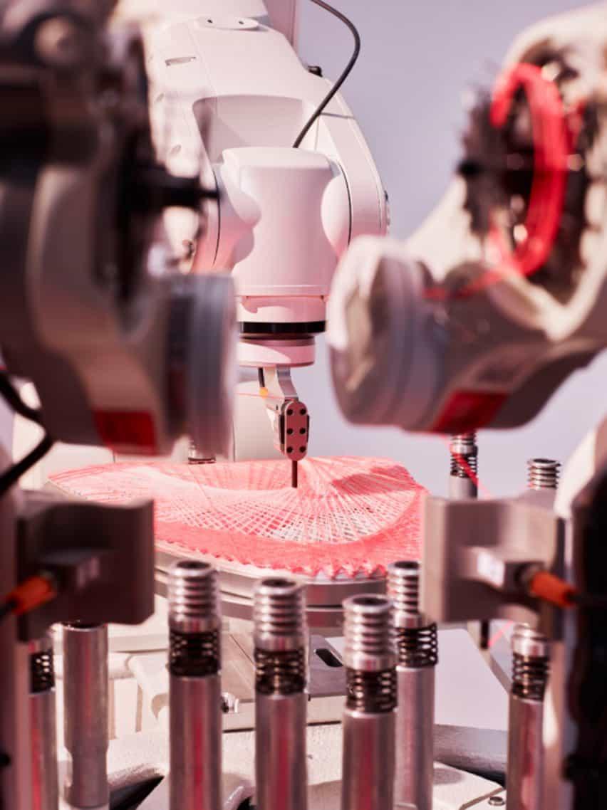 Strung parte superior de tejido robot de Adidas