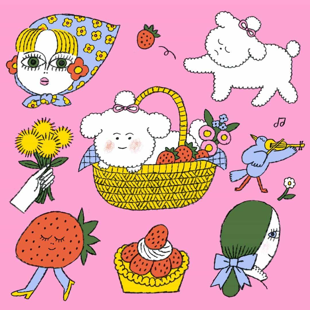 Conoce a los personajes ilustrados hilarantes y encantador creado por Min Heo