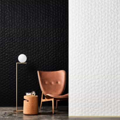 comunicados de imagen tejida mínima Zen y Ion relieve paneles de pared