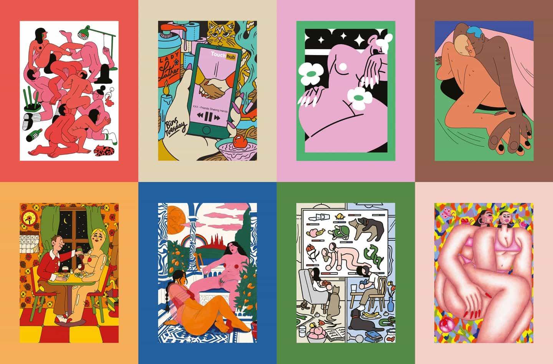 Fuera de Línea pregunta ilustradores de todo el mundo para visualizar su experiencia de la sexualidad durante el encierro