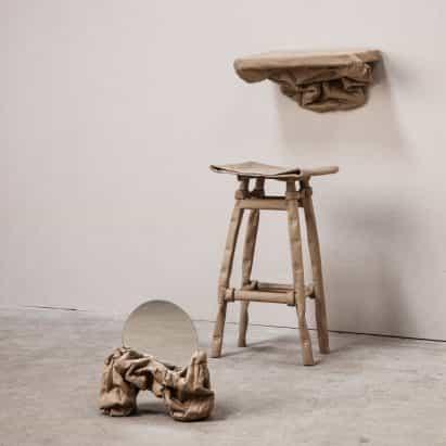 Ying Chang crea los muebles de papel para la recogida maleable Estado