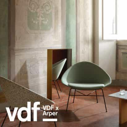 Arper revela sillas reciclables y un catálogo posterior a la pandemia de vídeo para VDF