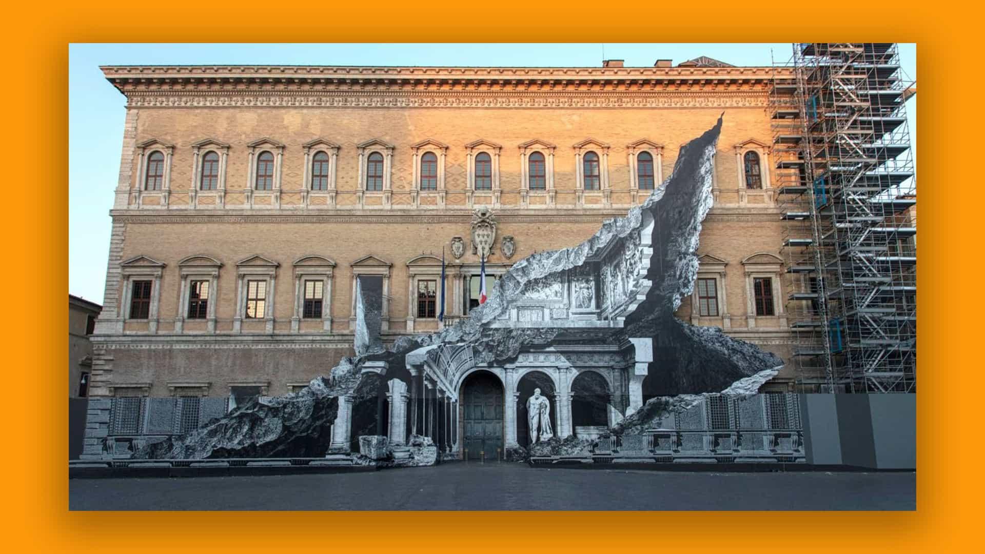 Este arte callejero de ilusión óptica de 'rayos X' está volviendo loco en Roma