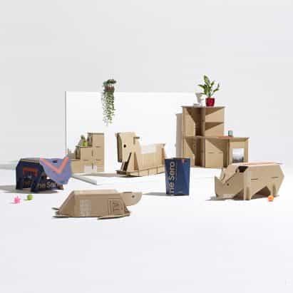 Top cinco diseños de muebles de cartón en la Dezeen x Samsung fuera de la competición reveló Box