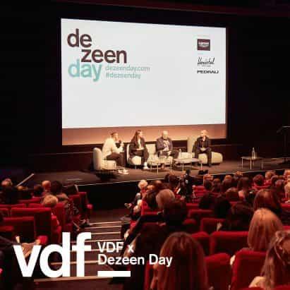 Ver las conversaciones de Paola Antonelli, Liam Young y Alexandra Daisy Ginsberg Día de Dezeen en VDF