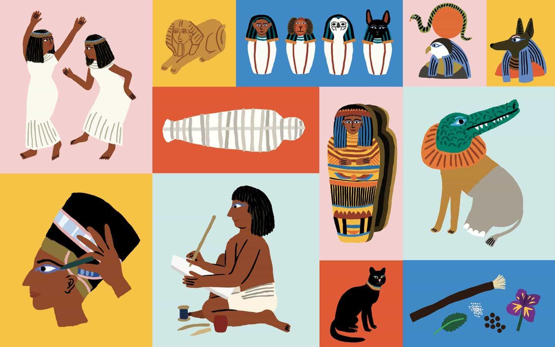 Egipto - Partido de una mamá, juego de memoria publicado por Laurence Rey Publishing