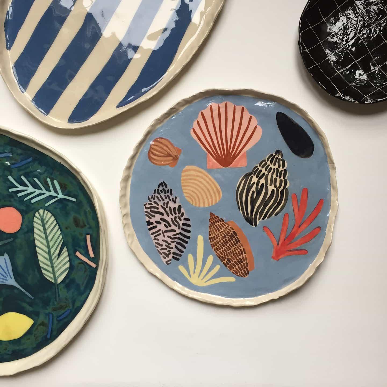 conchas de cerámica