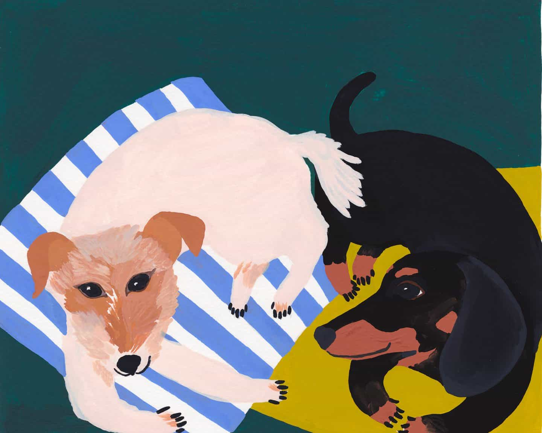 Yvette & Pablo imaginario el perro salchicha