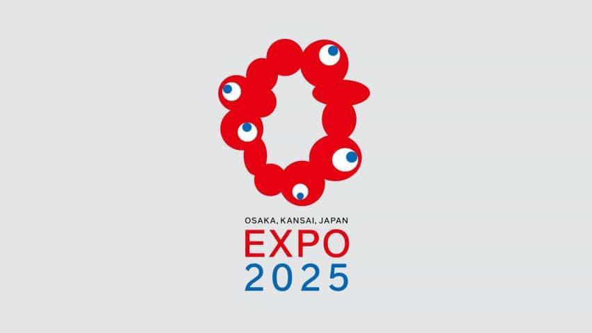 Expo 2025 logotipo de Osaka por Tamotsu Shimada