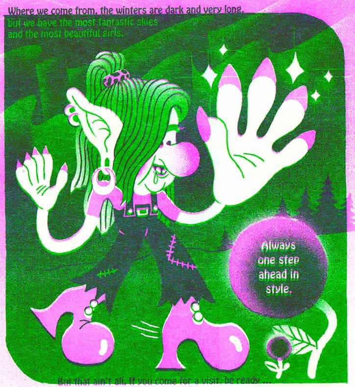 Ratones, lunas y hongos: maravillarse con ilustraciones granuladas de Sharmila Banerjee