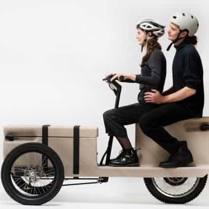 ZUV es un triciclo eléctrico que se puede imprimir en 3D a partir de residuos plásticos