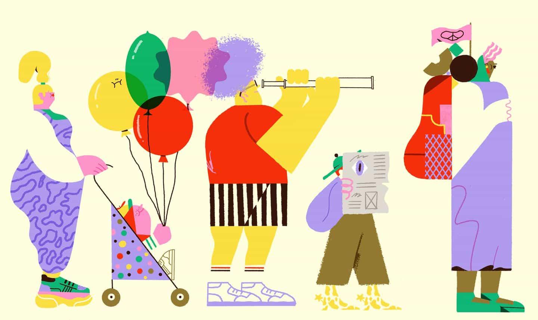 El ilustrador Antonio Uve irradia positividad a través de su obra y proceso artístico