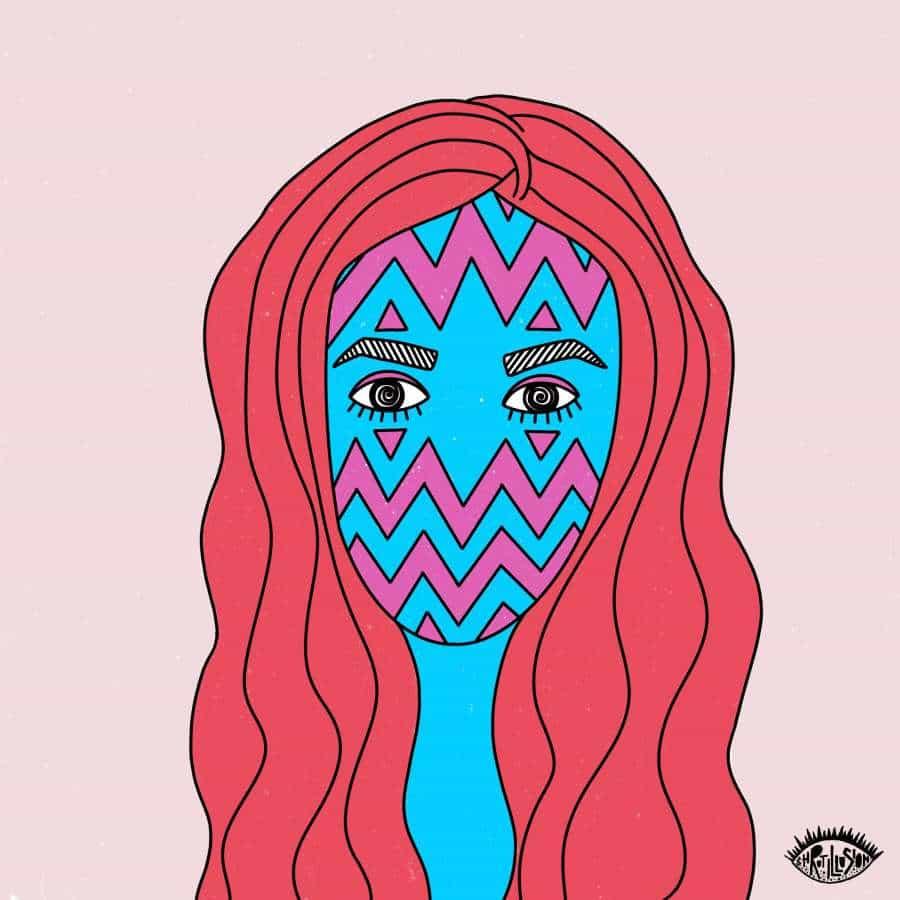 Shruti Singh, entre muchos diseñadores e ilustradores, proyecto creado gira entorno Covid19. Su serie de autorretratos refleja una expresión de los sentimientos y pensamientos que cruzaron su mente durante este tiempo crítico. Es un momento muy difícil, mental y físicamente. Estos retratos son una expresión de los nuevos tiempos y la carga emocional que se está llevando en nuestra mente. Al igual que Shruti, he estado pasando por altibajos. La ansiedad es siempre un subproducto y es importante para nosotros encontrar maneras de expresar el sentimiento.