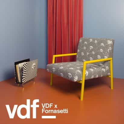 Fornasetti presenta inusuales serie Living Rooms en VDF productos justo