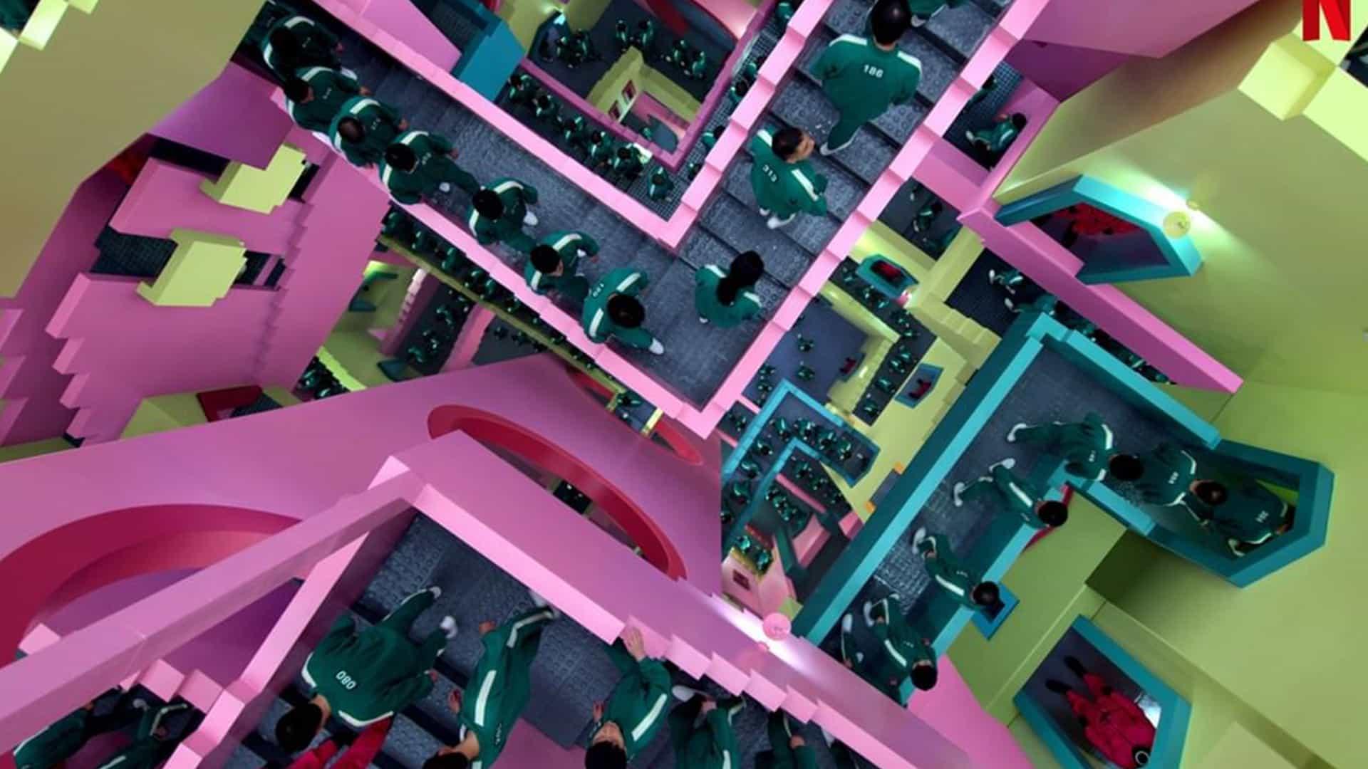 La fascinante escalera de Squid Game tiene una historia de origen igualmente alucinante