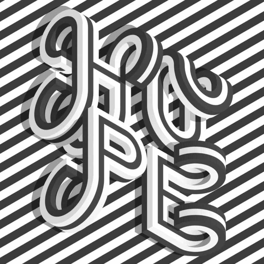 Series tipográficas basadas en cuadrículas isométricas