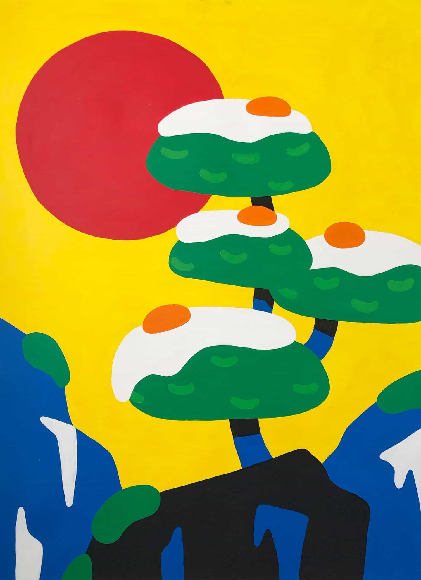 Las exuberantes pinturas de Cha están inspiradas en la comida, el patrimonio mixto y los televisores retro para niños