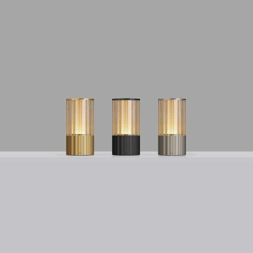 Lámparas inalámbricas de Voltra Reeded por Arnold Chan por Voltra