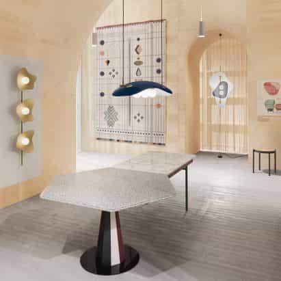 """Doshi Levien recrea """"versión abstracta"""" de su estudio para el pabellón de Estocolmo Feria del Mueble"""