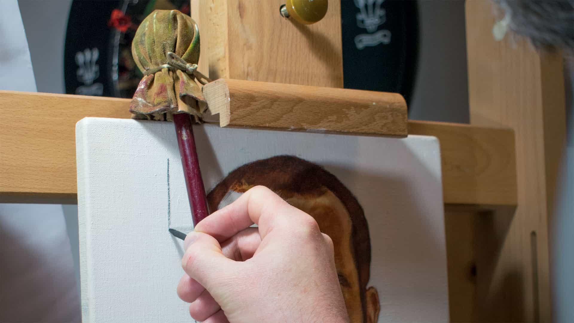Cómo hacer y usar un mahlstick para pintar