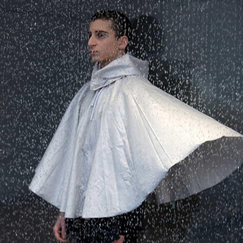 Urbanella neutral al género de poliéster reciclado paraguas del cabo por el estudio de malla